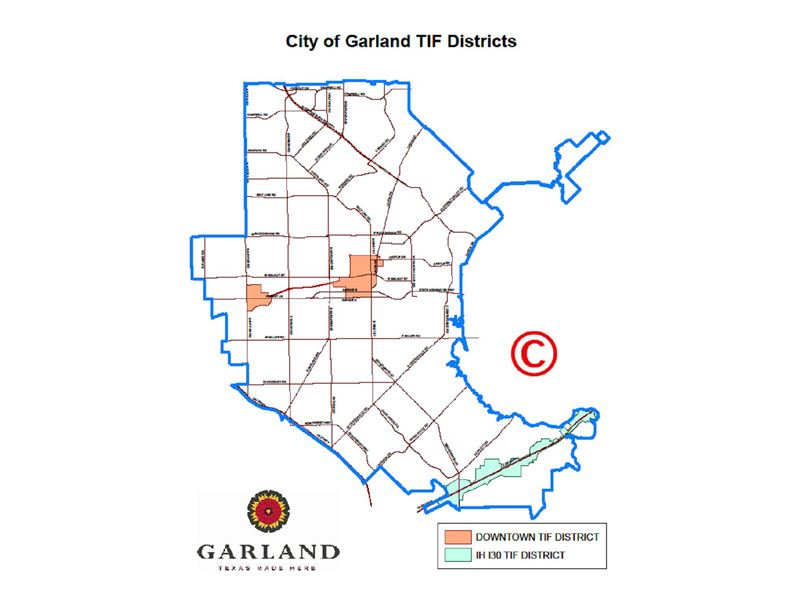All Garland Tax Increment Financing Districts Map (JPG)