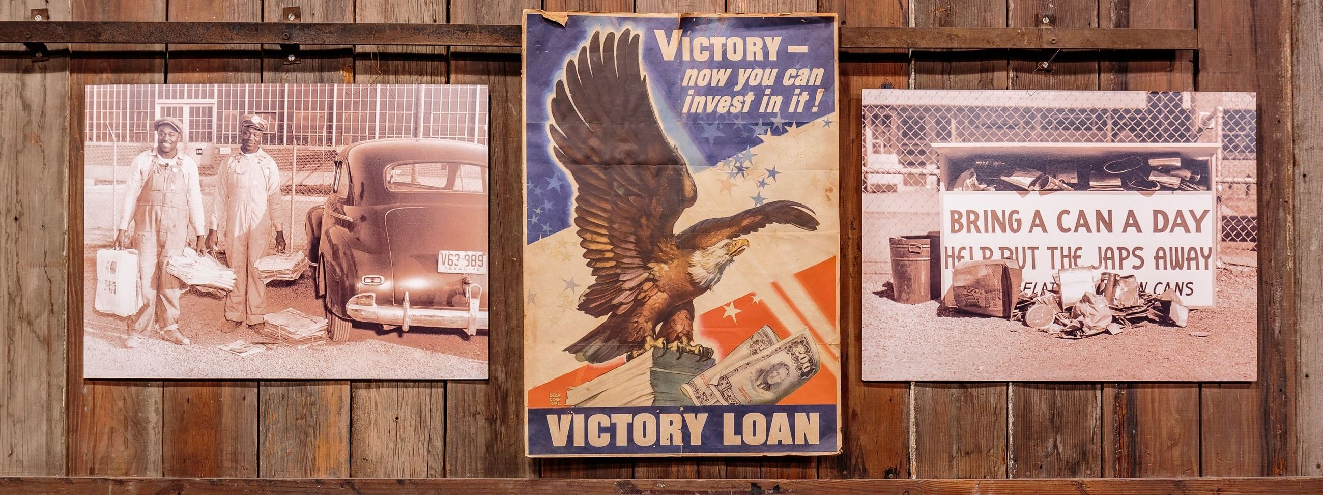 Posters on display in Landmark Museum