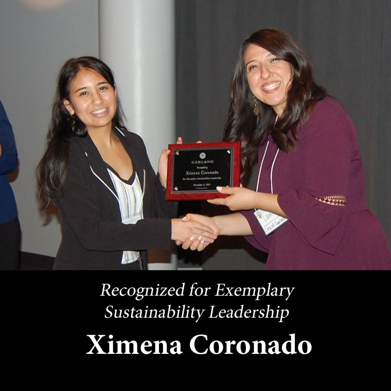 ximena coronado for exemplary sustainability Leadership
