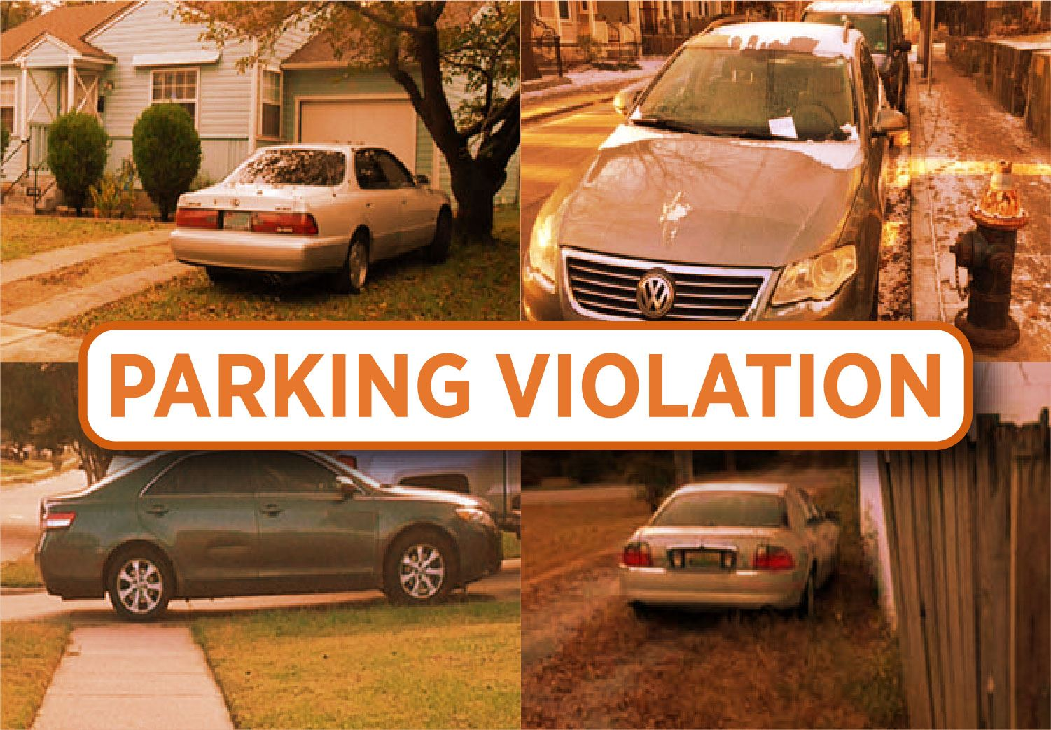 Examples of parking violations