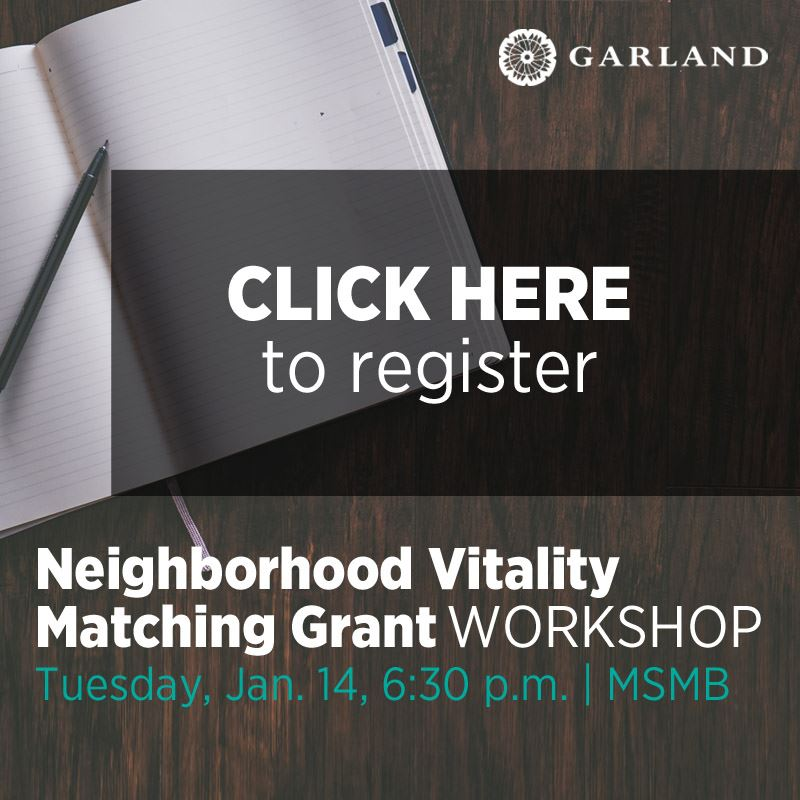 Neighborhood Vitality Matching Grant Workshop Jan 14, 6:30 p.m. MSMB click to register