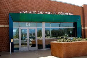 Front of the Garland Chamber of Commerce Offices
