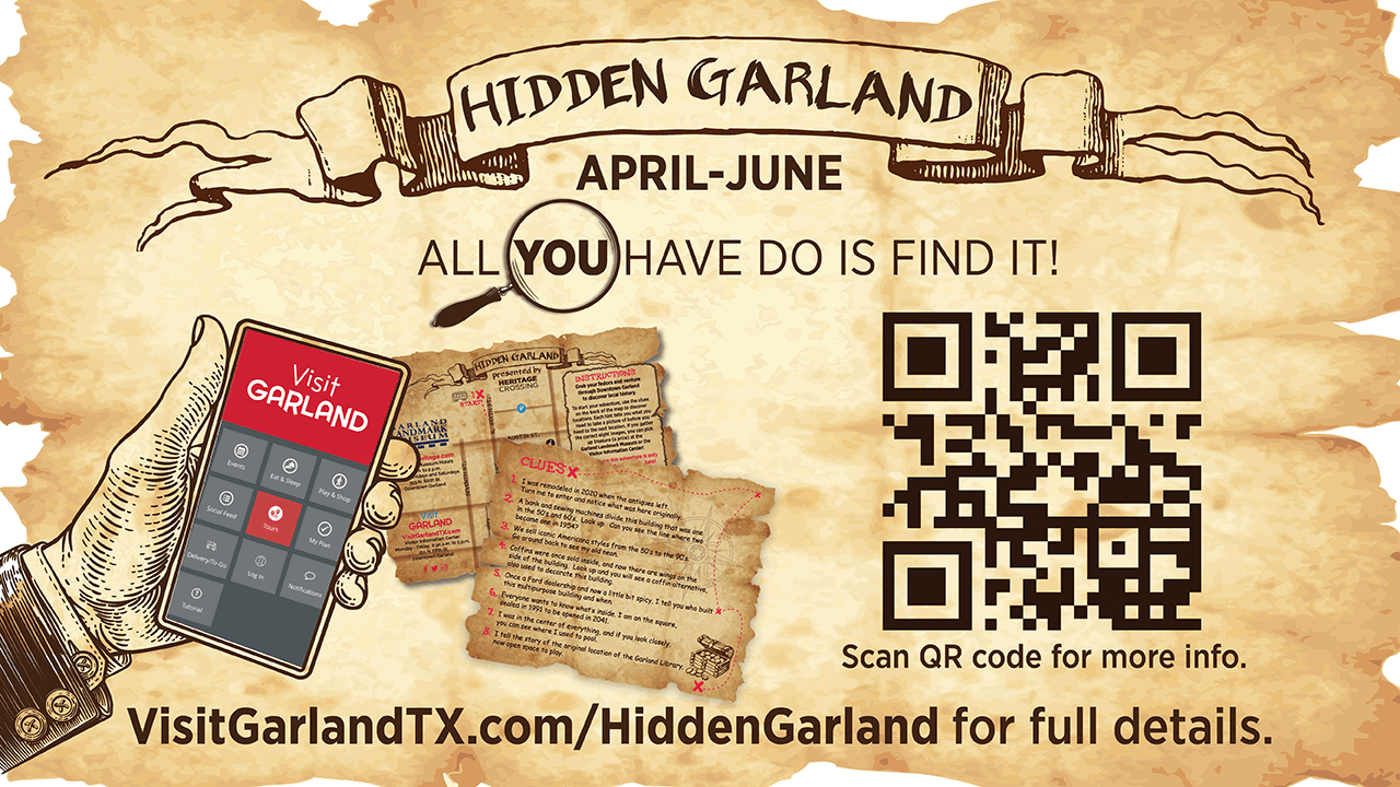 Hidden Garland virtual scavenger hunt runs April -June at the Landmark Museum